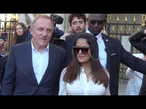Salma HAYEK & Francois Henri Pinault @ Paris 3 october 2016 Fashion Week