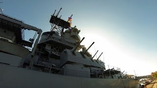 BB-61 / The USS Iowa Battleship (GoPro HERO 3 Timelapse)