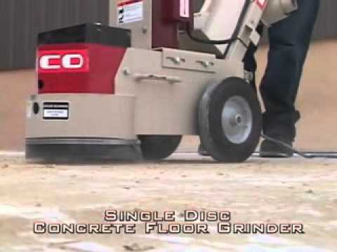 edco single disc concrete floor grindergotgreattools - youtube