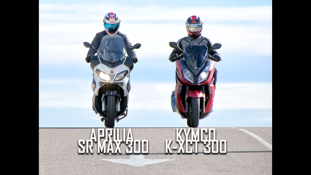 kymco k xct 300 vs aprilia sr max 300 youtube. Black Bedroom Furniture Sets. Home Design Ideas