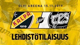 Lehdistötilaisuus, KalPa - TPS, 15.11.2019
