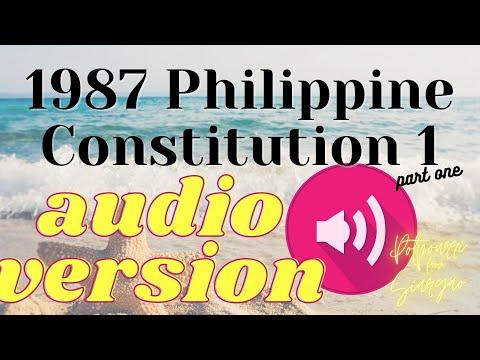 Download Potpourri Studies ♫   1987 Philippine Constitution 1 AUDIO REVIEWER (p1)
