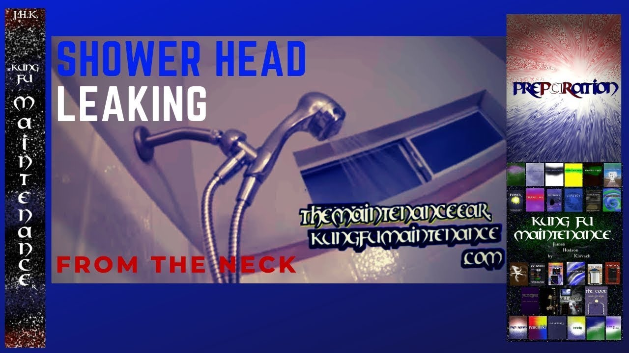 How To Repair Stop Leak For Shower Head Leaking Water From Neck Arm ...