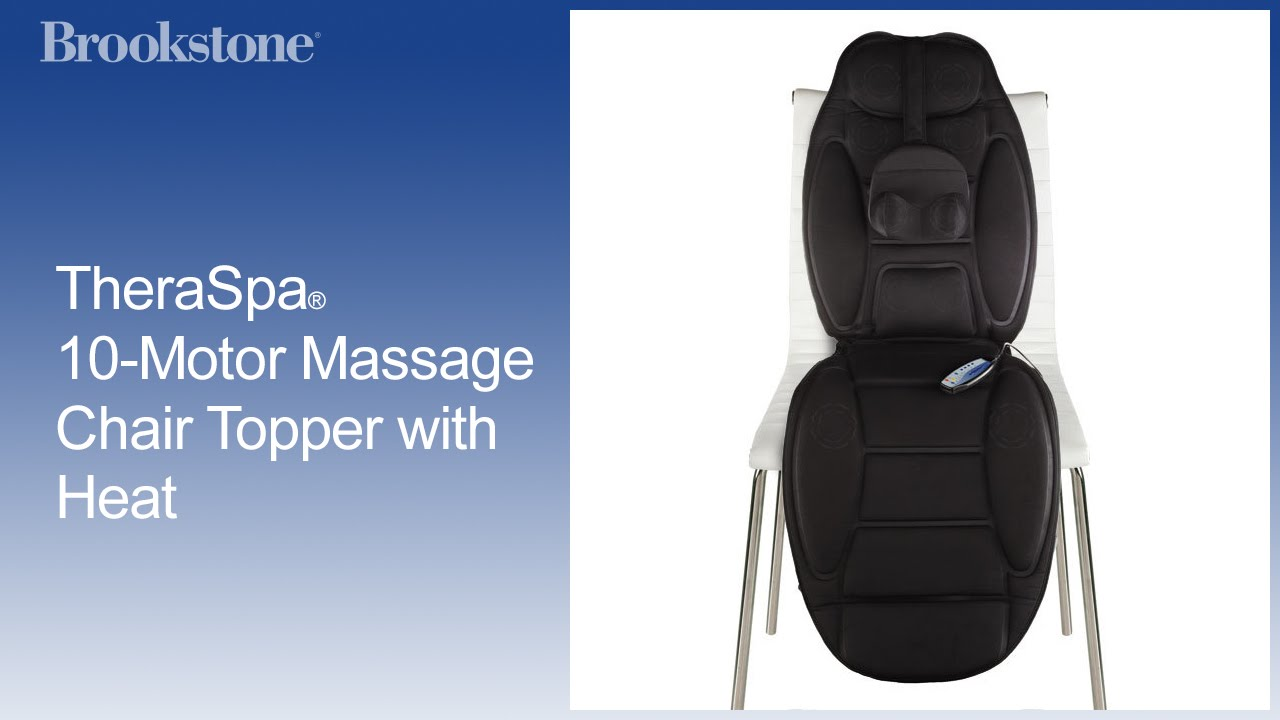 theraspa 10motor massage chair topper with heat