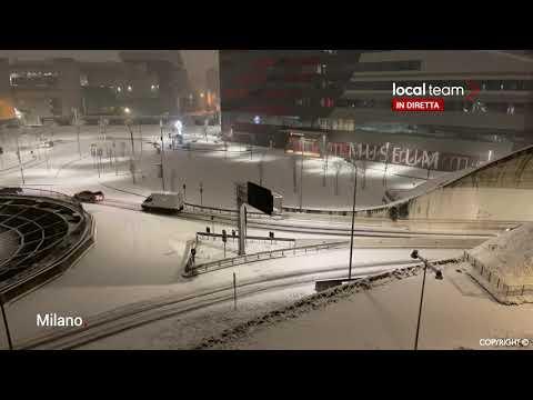 LIVE La neve a Milano, Piacenza e Bergamo (28 dicembre 2020)