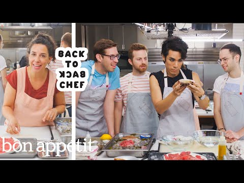 The Try Guys Try to Keep Up with a Professional Chef | Back-to-Back Chef | Bon Apptit