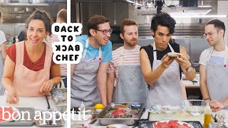 The Try Guys Try to Keep Up with a Professional Chef | Back-to-Back Chef | Bon Appétit