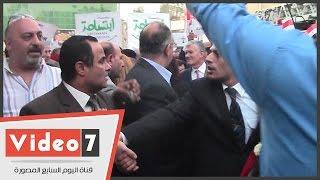 وزراء الطيران والسياحة والتنمية المحلية وسفير فرنسا يشاركون فى مسيرة تأبين ضحايا طائرة مصر للطيران