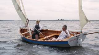 Two Luggers At Play | Wooden Boats Sailing & Rowing