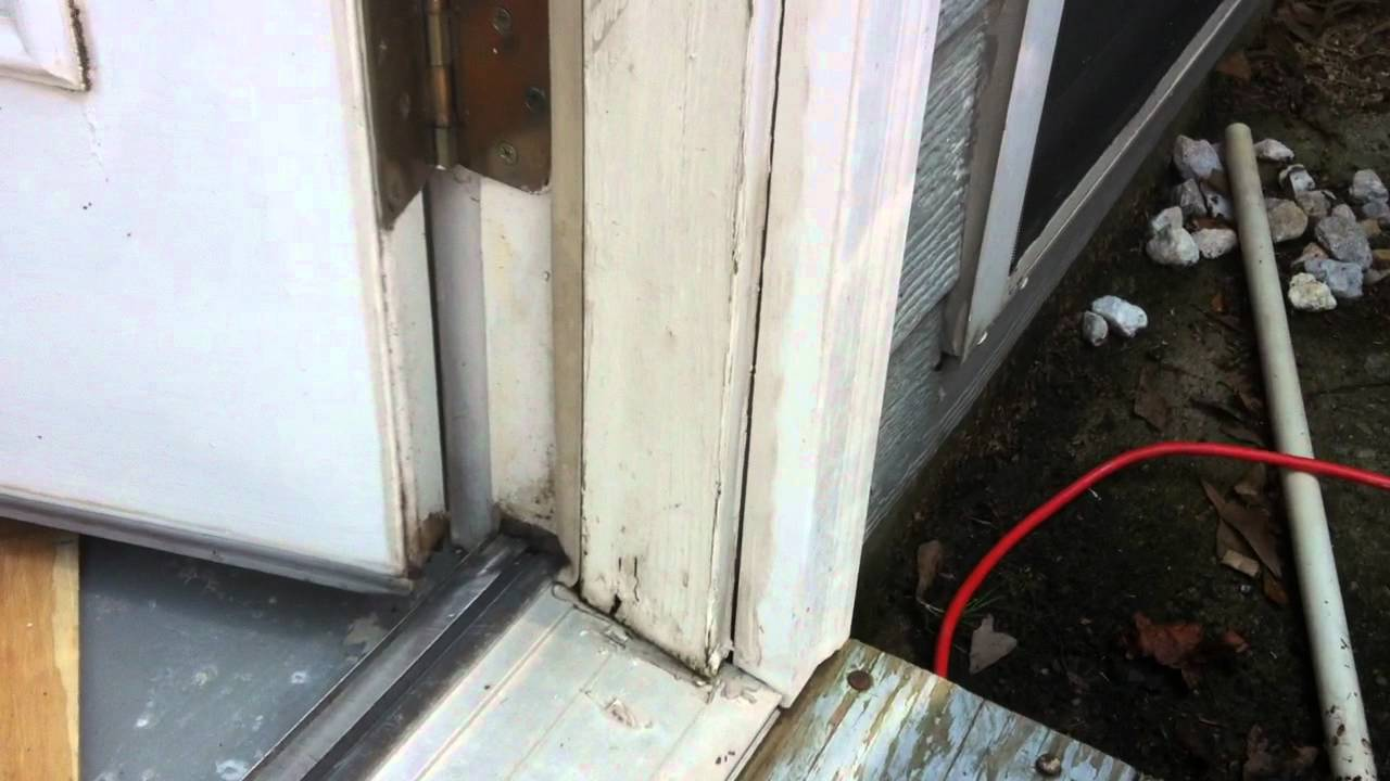 Water Damage to door frame - suggestions? - YouTube