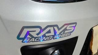 RAYS RACING WHEEL ステッカー ホログラム