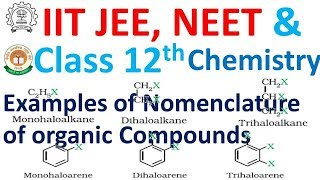 Most Important Examples of Nomenclature for IIT JEE, NEET, Class 12 and All Other Competitive Exams