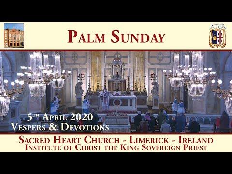 5th April 2020 - Palm Sunday - Sacred Heart Church - Limerick - Traditional Latin Mass