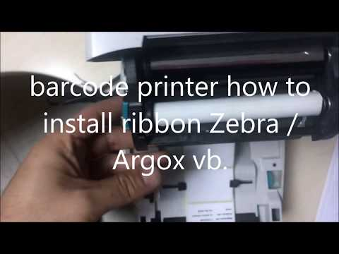 barcode printer how to install ribbon/ribbons. Zebra / Argox / godex / honeywell.