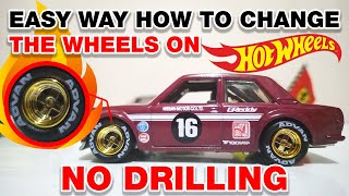 Gambar cover Easy way how to change the wheels on hot wheels car- no drilling