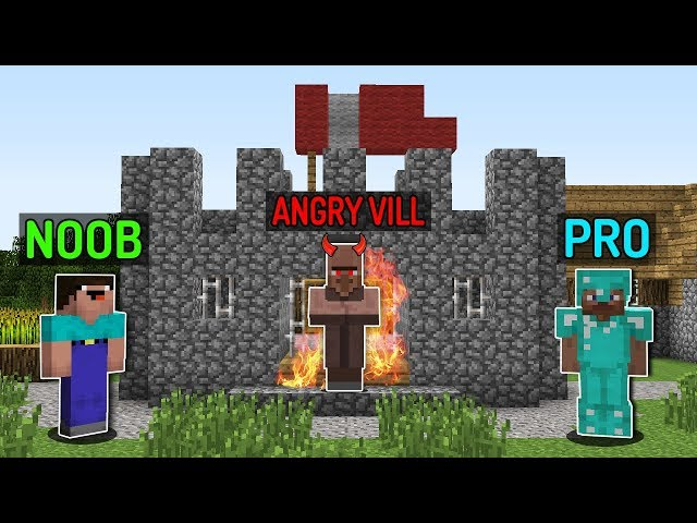 Minecraft NOOB vs PRO : VILLAGER LIFE CASTLE HOUSE Challenge - Minecraft Animation