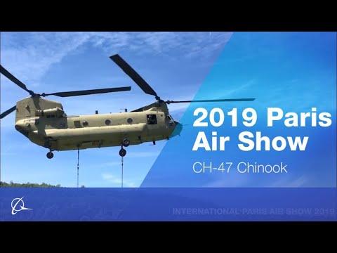 CH-47 Chinook at 2019 Paris Air Show