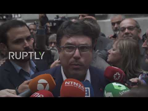 Spain: Former Catalan officials speak out as they leave Madrid court