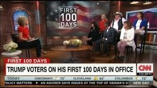 CNN Camerota interviews Dedicated Trump Voters on his First 100 days in Office