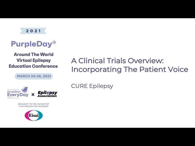 CURE Epilepsy - Purple Day® Around The World 2021 Virtual Epilepsy Education Conference