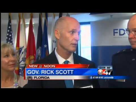 Gov. Rick Scott honors veterans in Jacksonville, FL