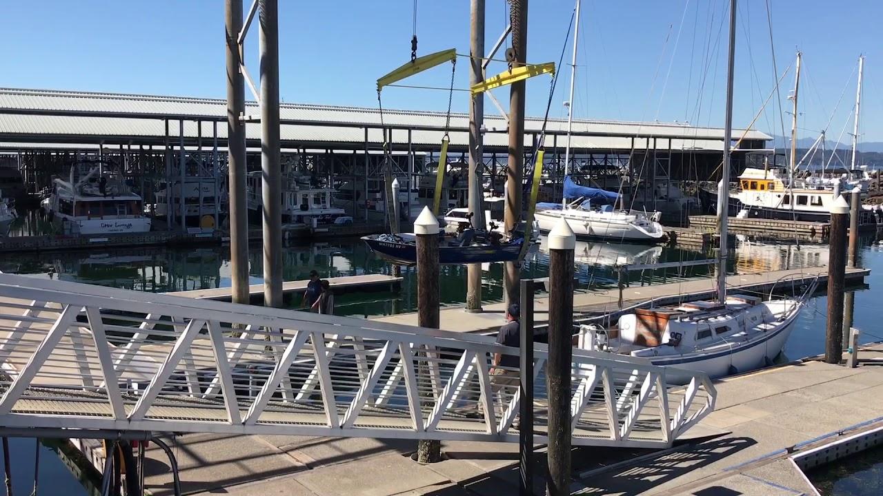 Boat sling lift