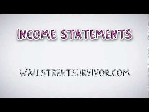 Introduction to Income Statements | by Wall Street Survivor