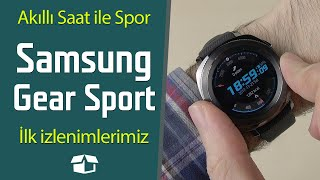 50M'de su geçirmez akıllı saat | Samsung Gear Sport ön inceleme