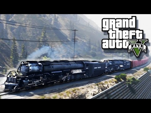 GTA 5 Train Simulator Mod - (Union Pacific Big Boy 4014) Railroad Engineer Mod