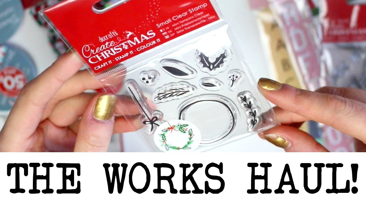 The Works Christmas Craft Haul! September 2018 - YouTube