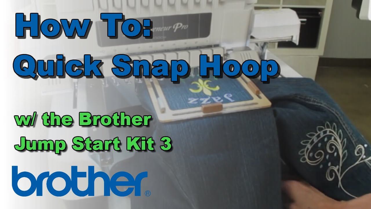 How To Use the Quick Snap Hoop with the Brother™ Entrepreneur® Pro ...