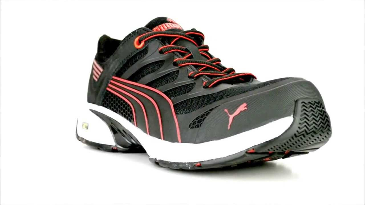 0c73e2831d5475 Men s Puma 642545 Fuse Motion Composite Toe Metal Free Work Shoe   Steel-Toe -Shoes.com - YouTube