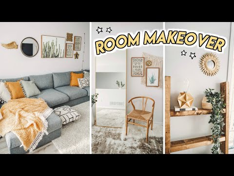 EXTREME LIVING ROOM MAKEOVER on a budget ☆ DIY transformation!