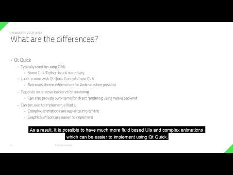 Qt Widgets or Qt Quick