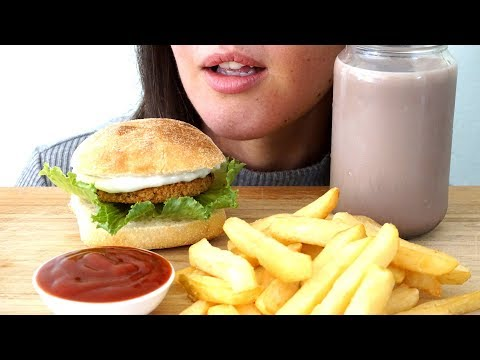 ASMR: Vegan Chicken Burger & Fries | Collab With SongByrd ASMR & ASMR Miss Nature
