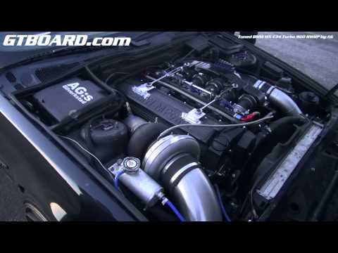 "Engine Of BMW M5 E34 Turbo ""Bugatti-killer"""