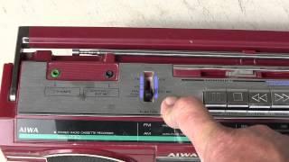 Aiwa CS-230 Boombox input Described MP3