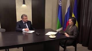 Рабочая встреча Губернатора Югры Натальи Комаровой и главы города Нижневартовска Василия Тихонова
