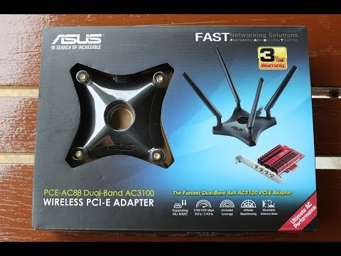 ASUS PCE-AC88 Dual-Band AC3100 PCIe WiFi Adapter & Wireless Performance Test (iPerf3)