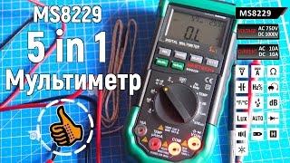 Мультиметр Mastech MS8229 - Многофункциональный 5 в 1 - обзор инструкция
