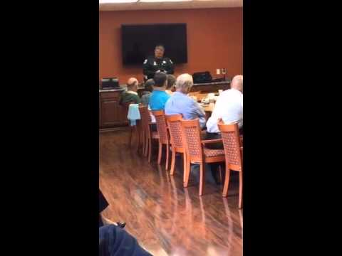 Sheriff Wayne Ivey presenting his 'Self Defense Through Mental Preparedness' Seminar