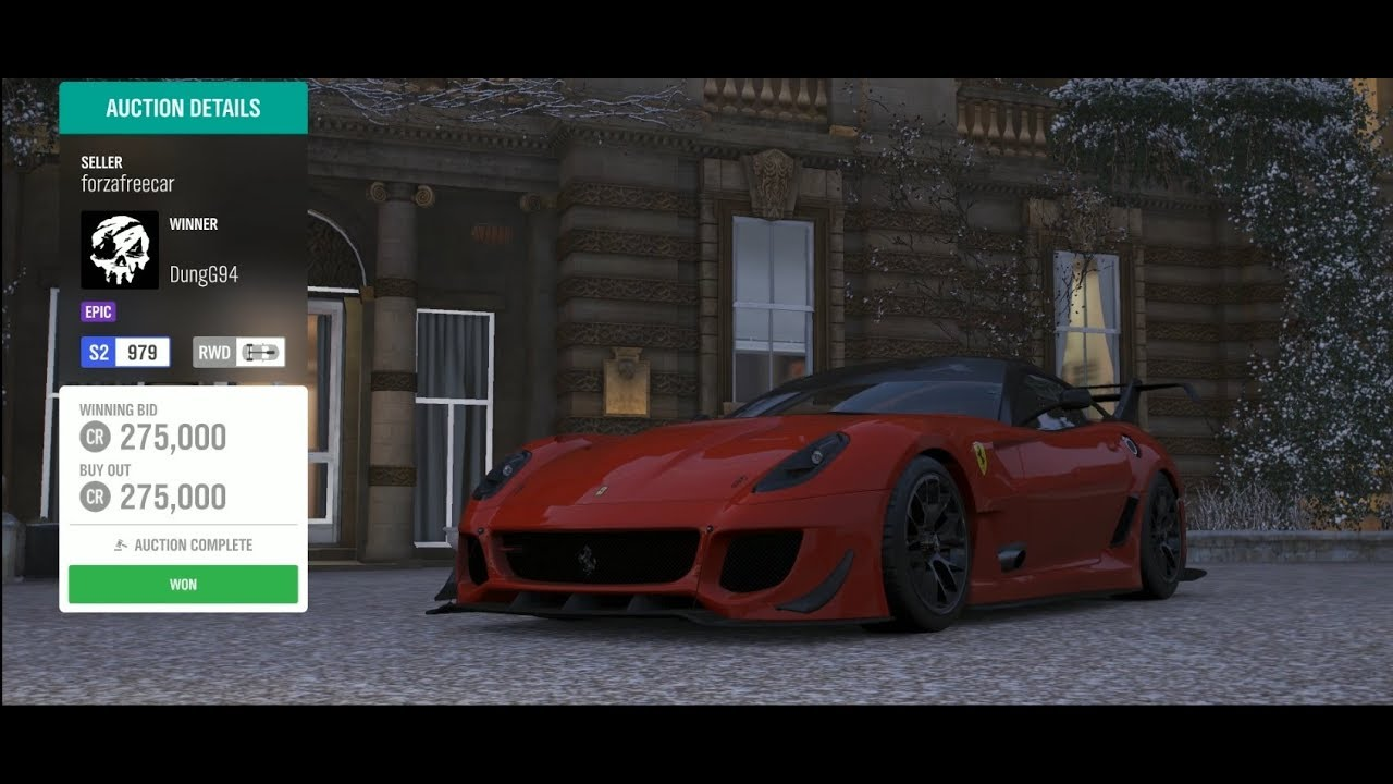 Forza Horizon 4 Auction House Sniping Ferrari 599xx E Youtube
