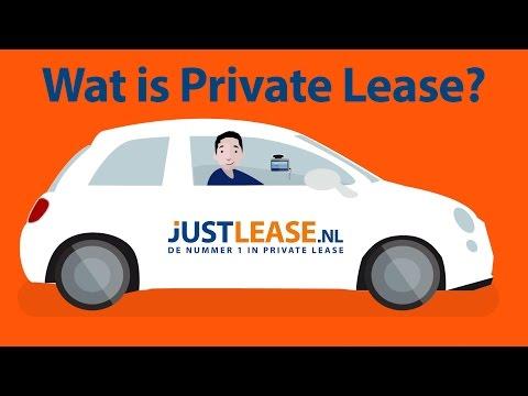 wat is private lease van justlease