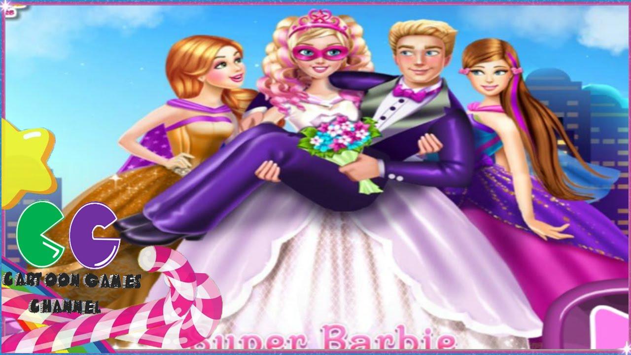 Súper Barbie juego de la boda: la boda juegos de Barbie. - YouTube