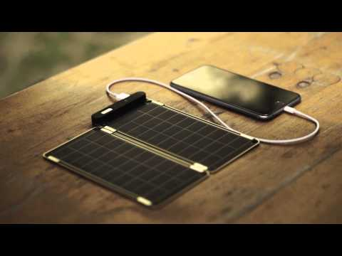 Solar Paper, world's thinnest and lightest solar charger.