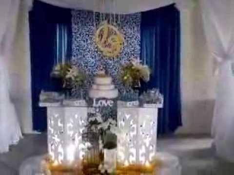Decorao de casamento em tons de azul e amarelo  YouTube