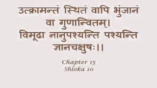 Bhagavad Gita : Sanskrit recitation with Sanskrit text - Chapter 15