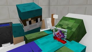 Monster School: Surgical Operation - Zombie! - Minecraft Animation