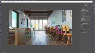 [Вебинар 3d Max] Постобработка интерьера в Фотошоп. Часть 8