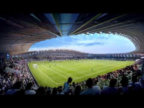 UK soccer team scores low carbon wooden stadium